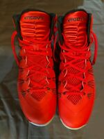 Nike Men's Hyperdunk 599537-600 Red/Black Basketball Shoes Lace Up Size 14