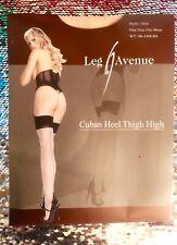 Leg Avenue Black / Nude /Tan - Cuban Heel Seamed Stockings Medium - Large