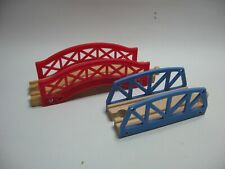 2 x LOW BRIDGE  for Wooden Train / Railway Track Set ( Brio Thomas ) M19