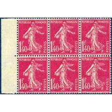 N°__196 SEMEUSE FOND PLEIN 1F.40 ROSE, TIMBRES NEUFS** 1924-26