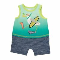 """Mud Pie Marco Polo Collection """"Surf's Up"""" Pelican Shorts Romper"""