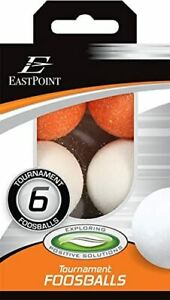 EastPoint Sports Tournament Foosballs 6 Count 2 Orange 4 White