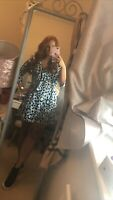 Blue And Black Leopard Print Dress Boohoo