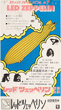 More details for led zeppelin concert window poster / handbill tokyo 1971 - reprint