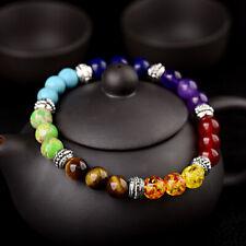 7 Chakra Reiki Energy Healing Bracelets Women Men Natural Stone Charm Bracelets