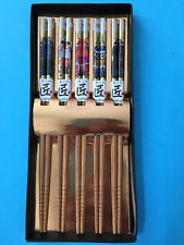 Japanese SAMURAI Natural Beautiful Bamboo Chopsticks 5 pair Gift Kyoto Japan