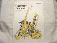 ATLAS COPCO ROC 604 606 CRAWLER DRILL 1977 sales brochure
