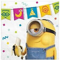 MINIONS 2 BEVERAGE NAPKINS PACK OF 16 PARTY FAVOURS SUPPLIES