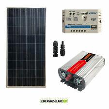 Kit photovoltaique panneau solaire 150W régulateur onduleur 1KW max.