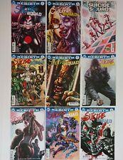 Suicide Squad Rebirth #1 - 8 22 VF/NM DC Comics Lot of 9