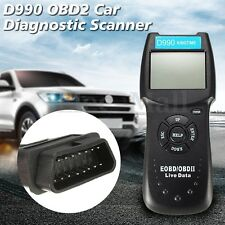 LCD Car Diagnostic Scanner Auto Engine Fault Code Reader OBD2 OBD 2 II Scan Tool