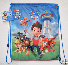 FULLY LICENSED NICK JR PAW PATROL DRAWSTRING PE/GYM/SWIM BACKPACK/BAG 41CMX33CM