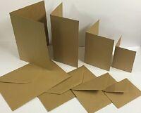 A5 A6 A7 Pre Scored Natural Brown Kraft Card Blanks / Envelopes, 260Gsm, 300Gsm