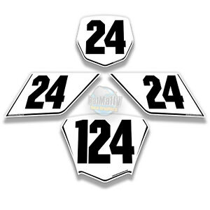 RACE NUMBER BOARDS - TO FIT BMW S1000RR all models. WRAP GRAPHICS / STICKERS