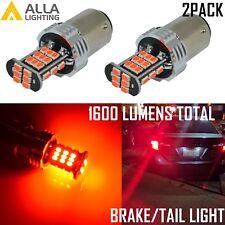 Alla Lighting 1157 3020 30-LED Brake Stop Tail Lights Bulbs Lamps,Vivid Red,2pcs