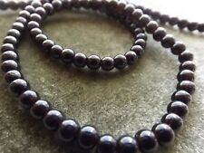 Beads Black Glass Round 3-4 Mm 16 Inch Strands