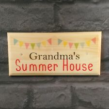 Grandmas Summer House Sign Summerhouse Plaque Nanny Gift Mothers Day Shed 532