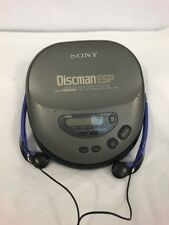 RARE SONY D-345 - DISCMAN - PERSONAL Portable CD PLAYER Walkman W Headphones D4