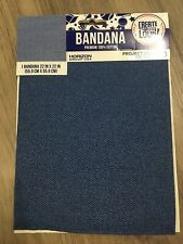 Denim Pattern Bandana Towel Scarf Cotton Mask Standard NEW 22'x22''
