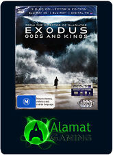Exodus Gods And Kings (Blu-ray) + 3D - 3-Disc Set - Brand New Sealed - Fast Post