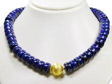 Diseño Cadena de piedras preciosas de lapislázuli forma rueda con una mattierten
