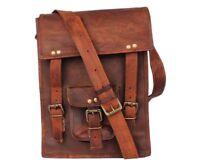 Adjustable Men's Genuine Leather Handbag Briefcase Shoulder Messenger Bag Purse