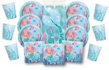 Mermaid Party Pack for 16 ~ Little Mermaid Under the Sea Themed, Plates Napkins+