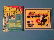 1979 MONTREAL EXPOS Fleer Vintage Logo Sticker-Puzzle on back  NM-MT+