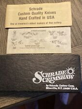 Schrade Scimshaw Sc 505 3 Blade -Sea Gull And Lighthouse Scene