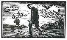 La fatigue marcheurs-Gabriel Belot-Original Gravure Sur Bois 1928