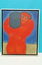 """ALVES DE SOUZA GERSON ( 1926 - 2008) PAINTED 1962 OIL ON CANVAS 16 x 13"""" FRAMED"""