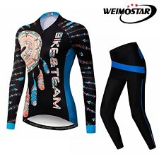Cycling Jersey Women Bicycle Long Sleeve Set Team Bike Clothing Sport Shirt Tops