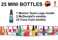 25 MINI COCA COLA BOTTLES SET BOX RUSSIA SOCCER FOOTBALL WORLD CUP 2018 MEXICO