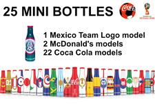 25 MINI COCA COLA BOTTLES SET BOX RUSSIA SOCCER FOOTBALL - WORLD CUP 2018 MEXICO
