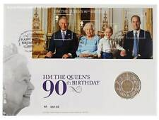 Royal Mint 2016 Queen's 90th Birthday £5 Brilliant Uncirculated PNC - Five Pound