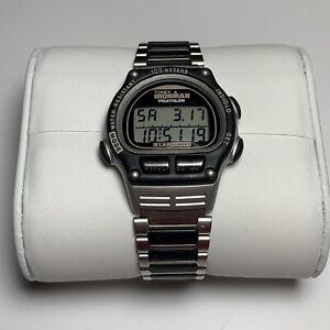 Timex Ironman Triathlon From Jan 1995 Men's 40mm Vintage Watch On Metal Band