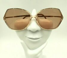 Vintage Silhouette Spx M1849 Brown Transparent Oval Sunglasses Frames Only
