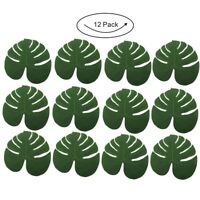 12pcs Tropical Artificial Green Palm Monstera Leaves Hawaii Party Table Home Dec