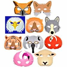 10 Foam WORLD WILDLIFE Animal Masks - Childrens Animal Fancy Dress Masks