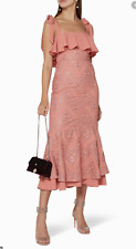 We Are Kindred Violette Midi Dress Coral Size 8