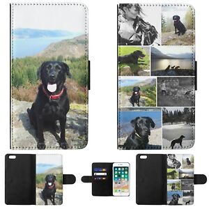 Personalised pet dog cat photo wallet phone case cover single image or collage