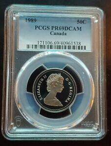 1989 50C PCGS PR69DCAM ULTRA RARE SUPER LOW POP 5/0 FINER NEWEST CAMERA EYE SLAB
