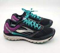 Brooks Women's Sz 8.5 Ghost 9 Athletic Running Shoes Sneakers Black Purple  $169