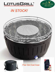 LotusGrill Anthracite Grey XL  Lotus Grill BBQ Free Charcoal Gel Case Camping