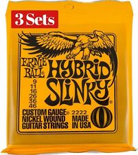 3x Sets Ernie Ball Hybrid Slinky Nickel Wound 009 046 Cuerdas Guitarra Eléctrica