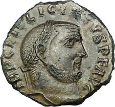 LICINIUS I Constantine I the Great enemy Roman Coin Genius w Sol  head  i34198
