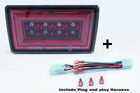LED Rear Fog Light + PNP For 15-20 Subaru WRX STI XV DRL Red Base - Red Ring F1
