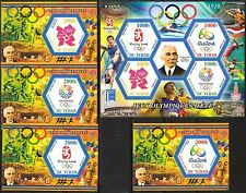 Chad 2015 History of Olympics Games Emblems 2008 - 2020 MNH** Privat !