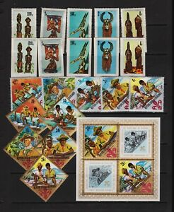 Burundi - Two sets from 1967 - including Boy Scouts set, cat. $ 31.50
