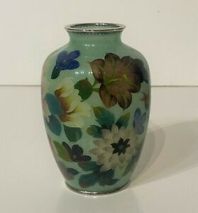Japanese Plique a Jour Vase early 1900's Ando Jubei